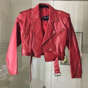Vintage Wilson's red leather jacket sz S